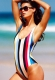 Women Sexy Striped One Piece Swimwear