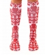 3D Print Patterns Knee Socks Knee High Socks Cute Red