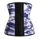Women's Camouflage Print Workout Waist Corset Light Grey