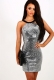 2017 Women's Halter Neck Bodycon Party Dress Sliver