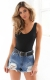 2017 Women Solid Fashion One Piece Body Suit Black
