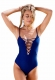 2017 Womens Bandage One-Piece Swimwear Dark Blue