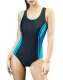 Women's Halterneck Tankini Strap Splice One-Piece Athletic Swimwear