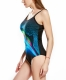 Wave Fine Point Design Racing Trainning 1pcs Sport Swimsuit