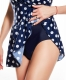 White Polka Dots One Piece Swimdress