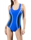 White Curves Embellishment Athletic One-piece Racing Training Sports Swimsuit