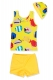 Toddler Boys Sleeveless Swimsuit Set Vest Short Pants with Hat