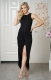 New Arrival Hot Sexy Irregular Wrinkle Bodycon Dress Black