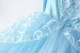 Girls Cinderella Costume Puff Sleeve Fancy Party Dress-up Blue