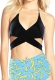 Cross Front Detailing Top And High Waist printing Bottom Two-pieces Swimwear