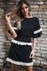 O Neck Mini Dress With Falbala Sleeve And Tassel Decorated