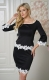 Women Close-fitting Mini Dress With Lace Decorated