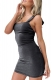 Uhnice Women Sexy Solid  Sleeveless Bandage Dress Mini Dress Black