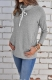 Turtleneck solid sweatshirt with pocket