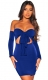 Off-shoulder long sleeves bodycon dress
