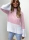New Fashion Women Knitting  Turtle Neck Sweaters Pink