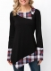 New Arrival Autumn  Cowl Neck Tunic Top Black