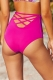 Printing Rose High Waist Swimsuit