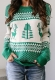 Green Christmas Tree O-Neck Sweater
