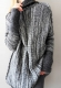 Dark Gray Turtleneck Long Sleeve Knitted Long Sweater