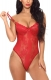 Wholesale  Lace V neck  Conjoined Underwear   Teddy Wine red