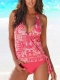 Multi color 2pcs Swimsuits Pink
