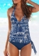 Multi color 2pcs Swimsuits Blue