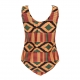 Print Crisscross Detail One-piece Swimwear Plus Size Swimsuit