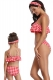 Red Checks Girls Swimwear Family Matching Bikini Set Swimwear