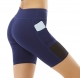 Yoga Shorts Woman Side Pockets Quick-Drying Breathable Tight-Fitting Fitness Running Shorts