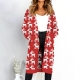 women long sleeve with pocket sweater Cardigan red