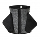 Grey Zipper Front Waist Cincher with Adjustable Shaper Trainer Belt