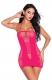 Hot Sexy Lingerie Fishnet Babydoll Lace Hollow-Out Mesh Chemise Babydoll