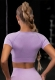 Women Yoga Sports Crop Top Shirts Tops Tight-Fitting Sportwear