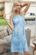 Women Casual Tie-Dye Gradient Mini Sleeveless Mini Dress.