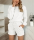 Women Casual Solid Color Two-Piece Set Pajamas Sets Sleepwear Loungewear