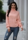 Women Turtleneck Hollow-out Knitted Pullover Sweater