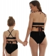 Hammock Neck Back Strappy Matching Swimwear