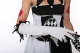 Halloween evil women wear black and white clown costumes